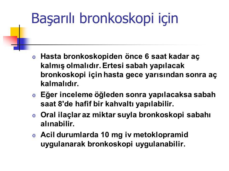 Başarılı bronkoskopi için