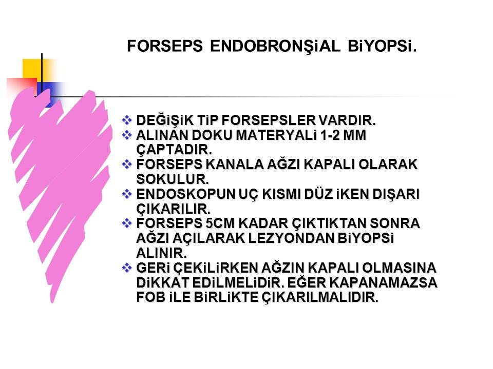 FORSEPS ENDOBRONŞiAL BiYOPSi.