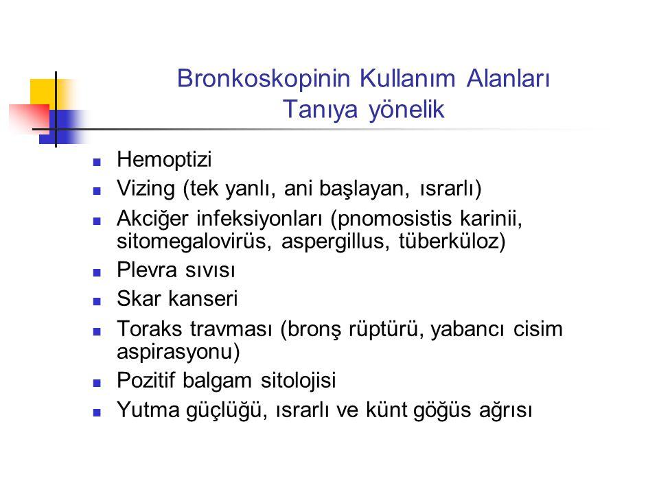 Bronkoskopinin Kullanım Alanları Tanıya yönelik
