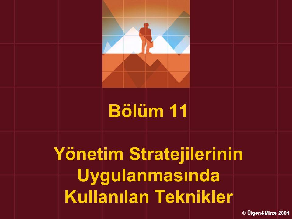 Bölüm 11 Yönetim Stratejilerinin Uygulanmasında Kullanılan Teknikler