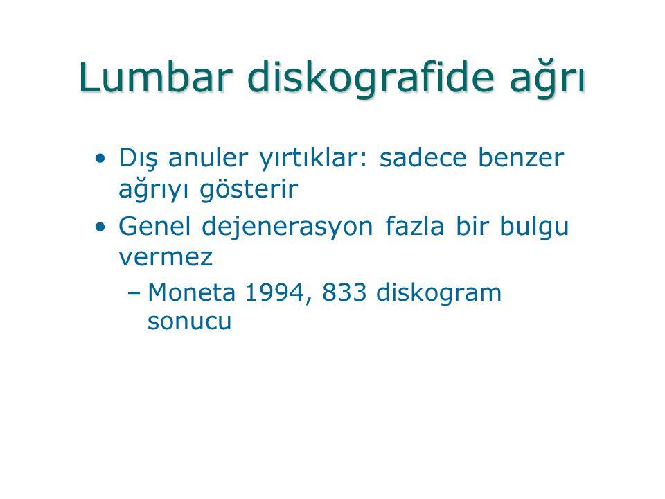 Lumbar diskografide ağrı