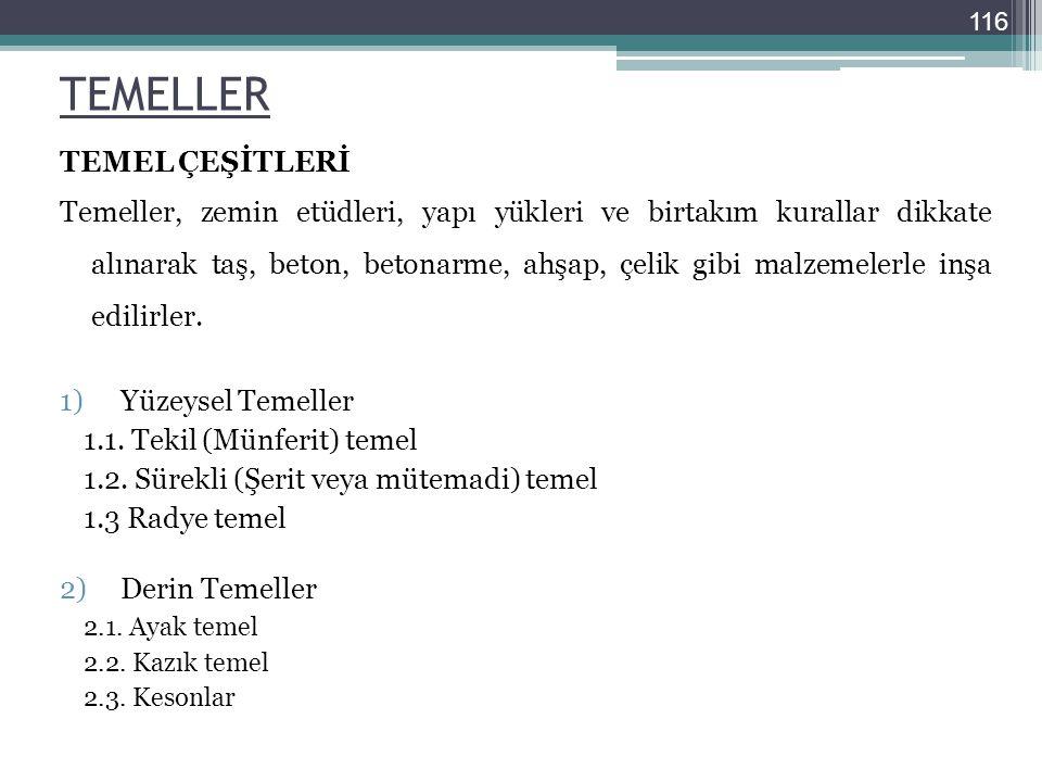 TEMELLER TEMEL ÇEŞİTLERİ