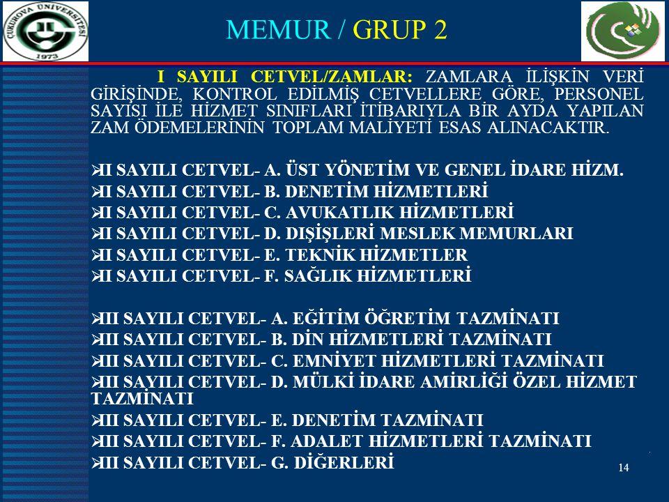 MEMUR / GRUP 2