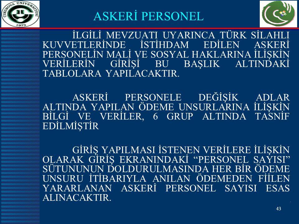 ASKERİ PERSONEL
