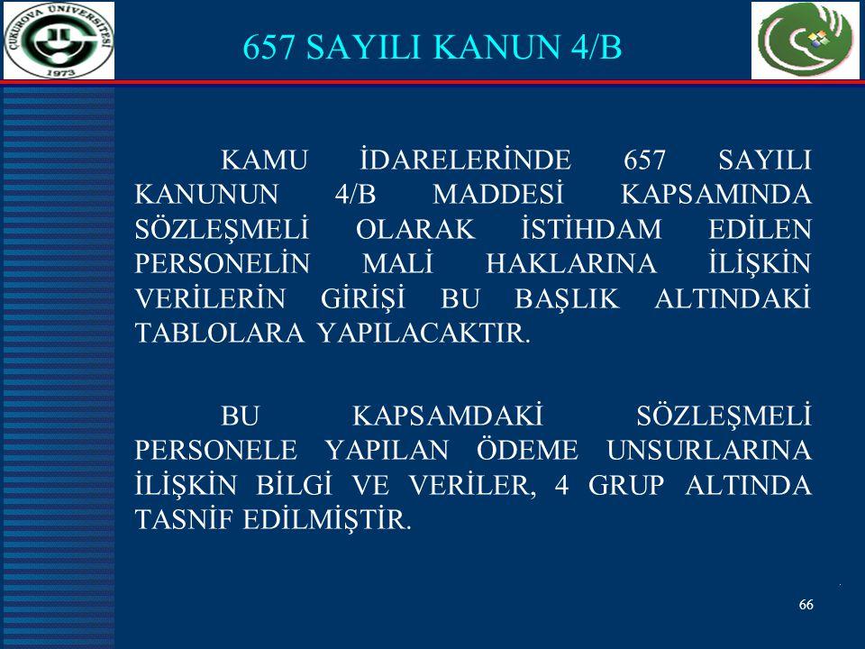 657 SAYILI KANUN 4/B