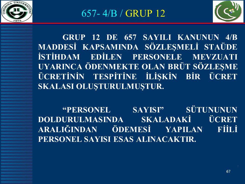 657- 4/B / GRUP 12