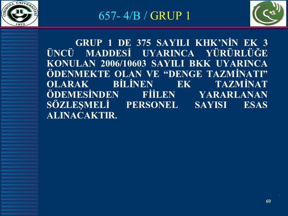 657- 4/B / GRUP 1