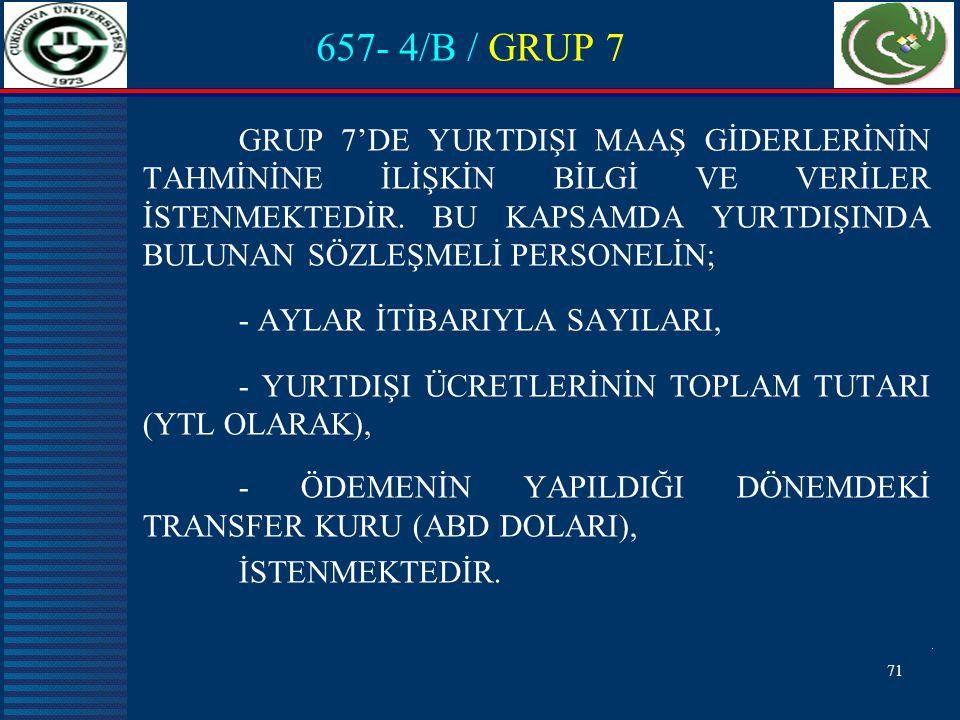 657- 4/B / GRUP 7