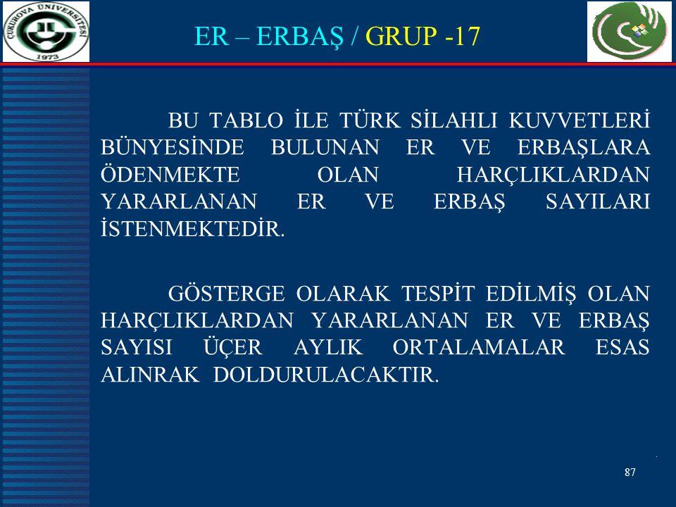 ER – ERBAŞ / GRUP -17