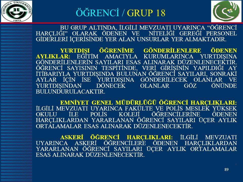 ÖĞRENCİ / GRUP 18