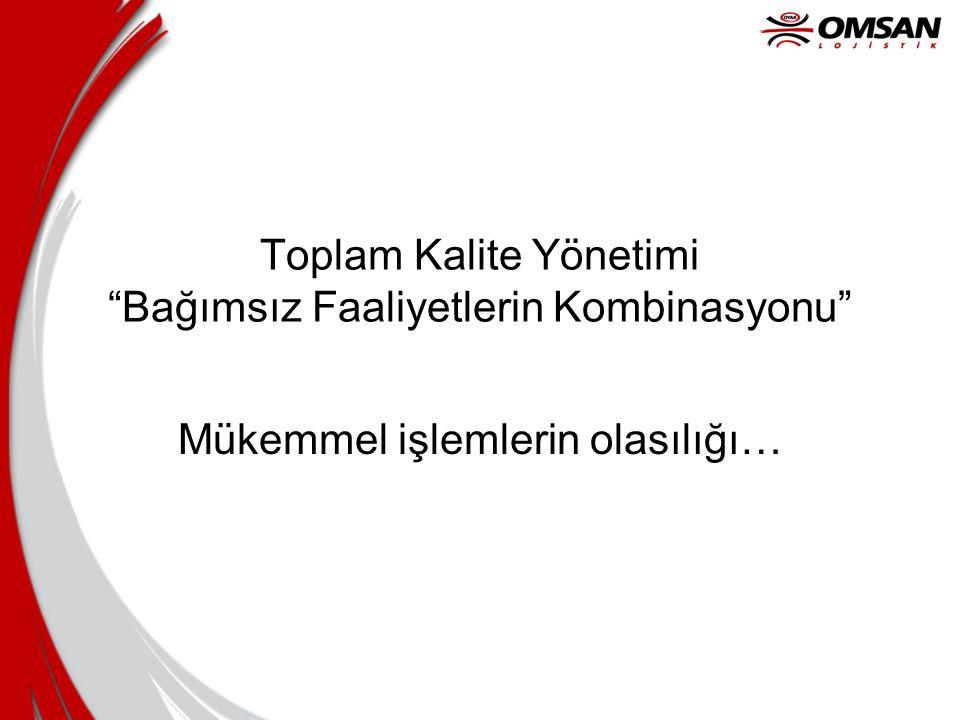 Toplam Kalite Yönetimi Bağımsız Faaliyetlerin Kombinasyonu