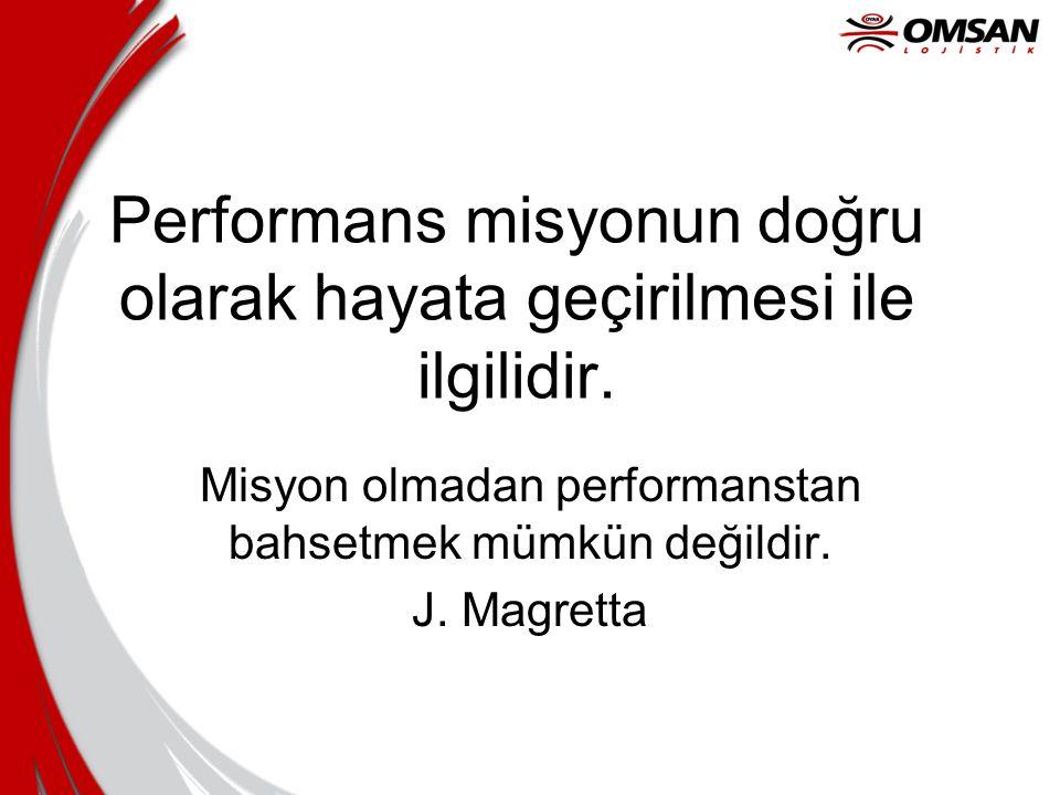 Performans misyonun doğru olarak hayata geçirilmesi ile ilgilidir.