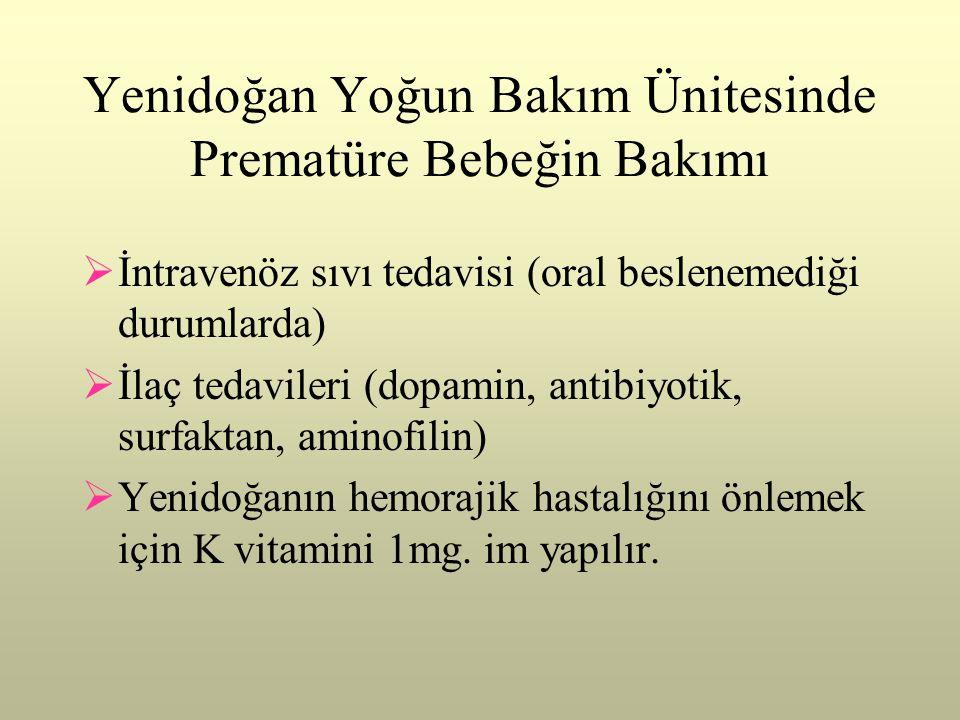 Yenidoğan Yoğun Bakım Ünitesinde Prematüre Bebeğin Bakımı