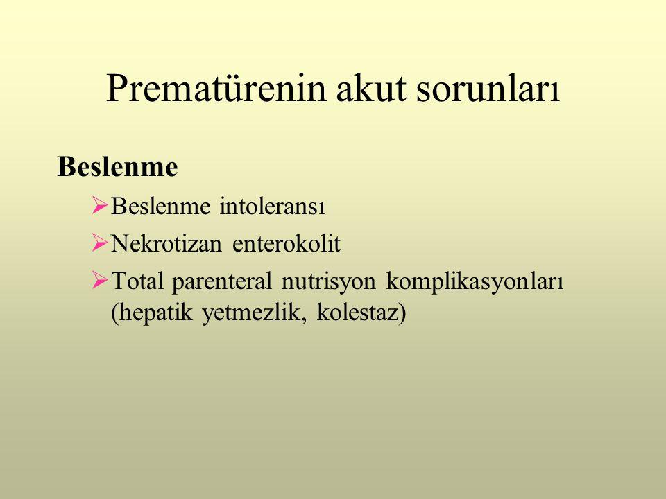 Prematürenin akut sorunları