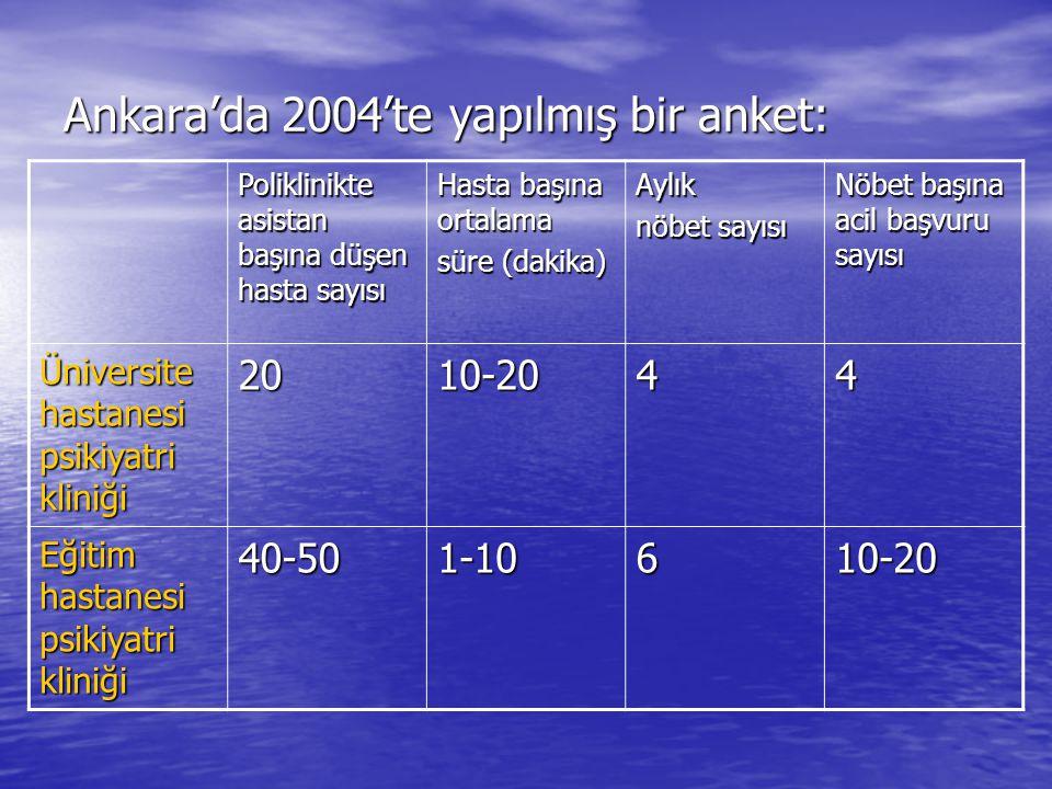 Ankara'da 2004'te yapılmış bir anket: