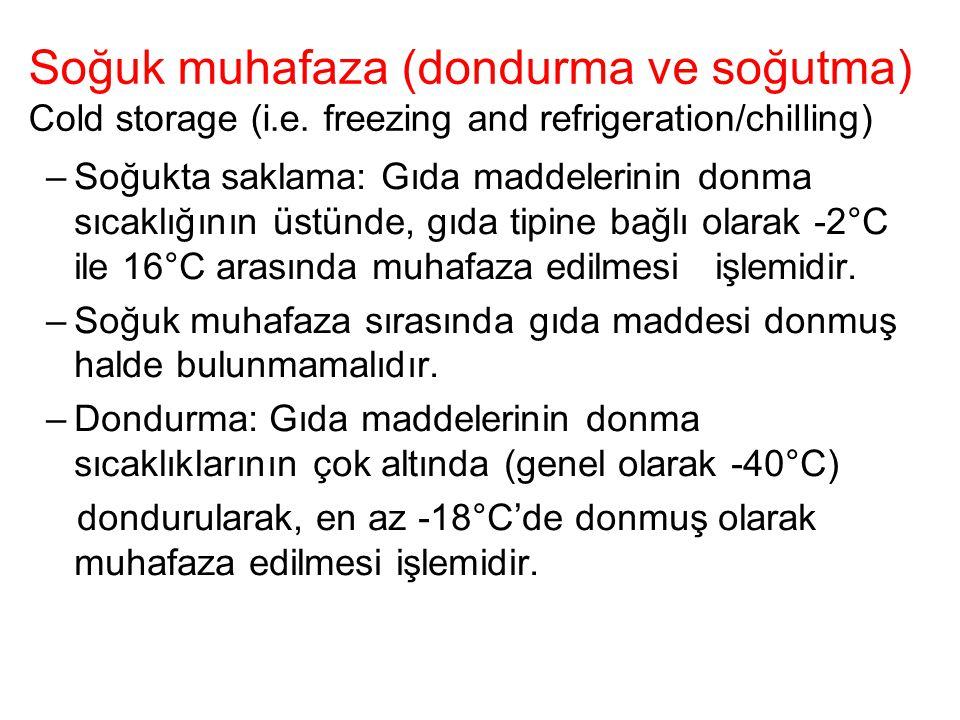 Soğuk muhafaza (dondurma ve soğutma) Cold storage (i. e