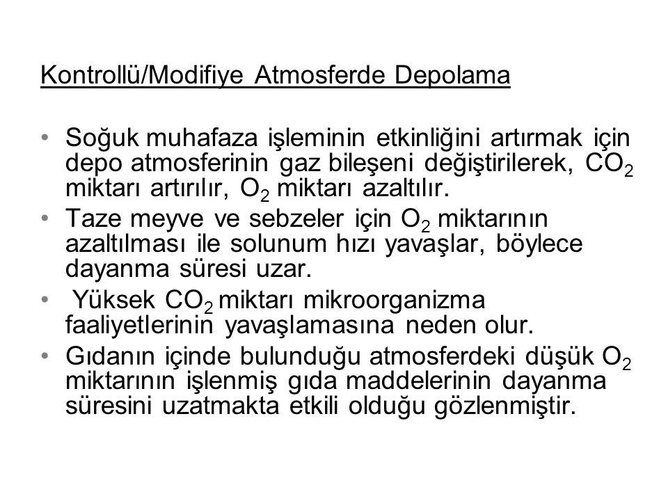 Kontrollü/Modifiye Atmosferde Depolama