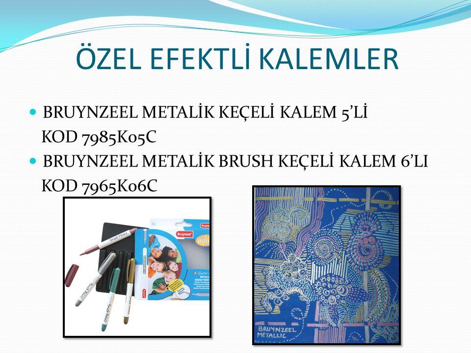 ÖZEL EFEKTLİ KALEMLER BRUYNZEEL METALİK KEÇELİ KALEM 5'Lİ KOD 7985K05C