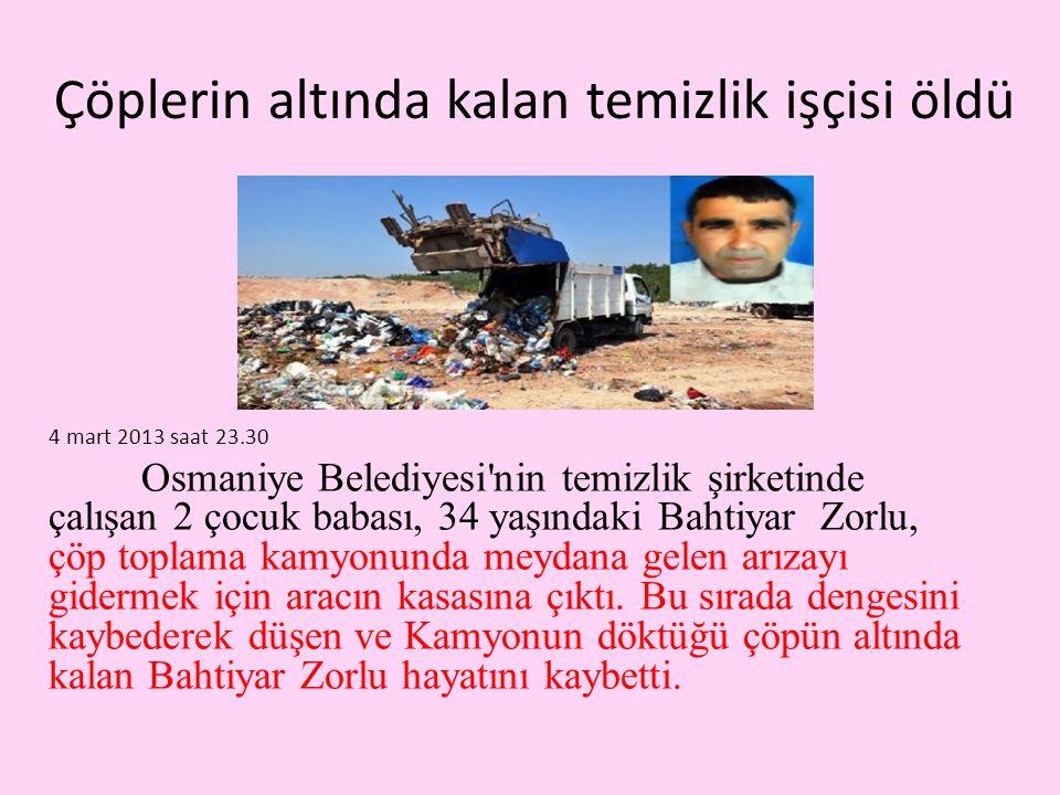 Çöplerin altında kalan temizlik işçisi öldü