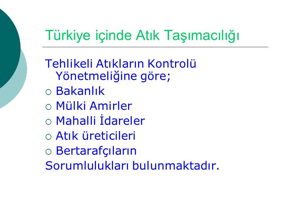 Türkiye içinde Atık Taşımacılığı