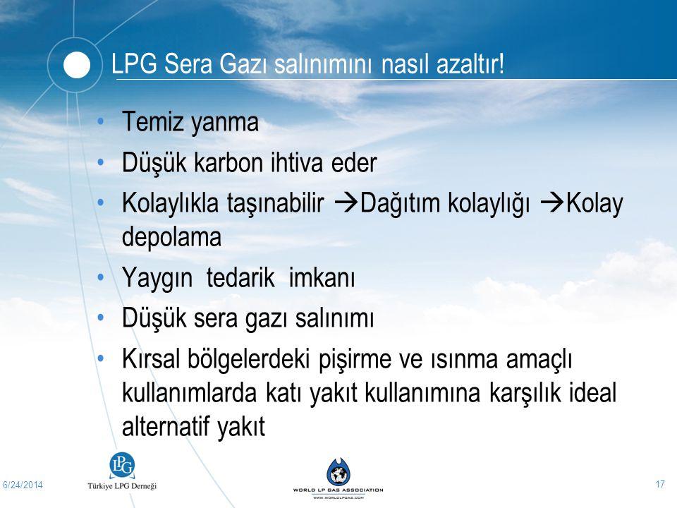 LPG Sera Gazı salınımını nasıl azaltır!