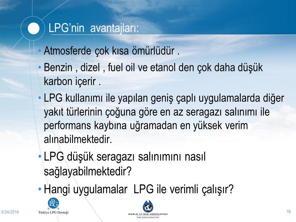 LPG düşük seragazı salınımını nasıl sağlayabilmektedir
