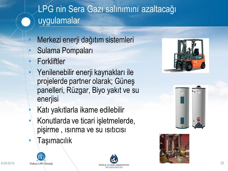 LPG nin Sera Gazı salınımını azaltacağı uygulamalar