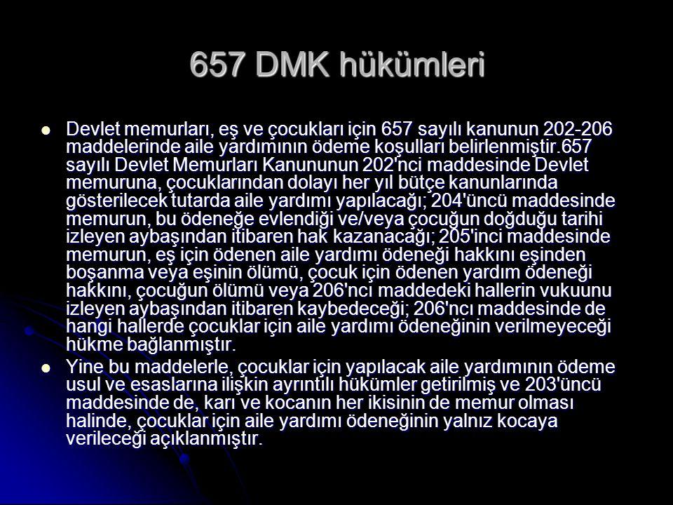 657 DMK hükümleri
