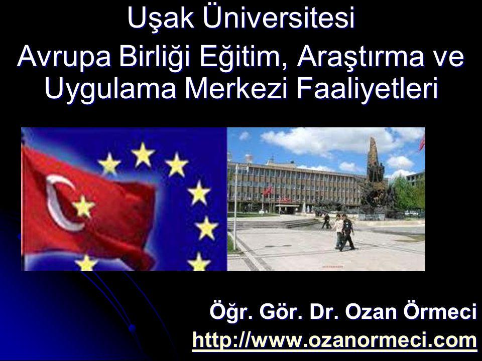 Avrupa Birliği Eğitim, Araştırma ve Uygulama Merkezi Faaliyetleri