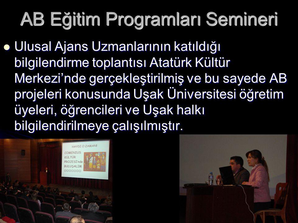 AB Eğitim Programları Semineri