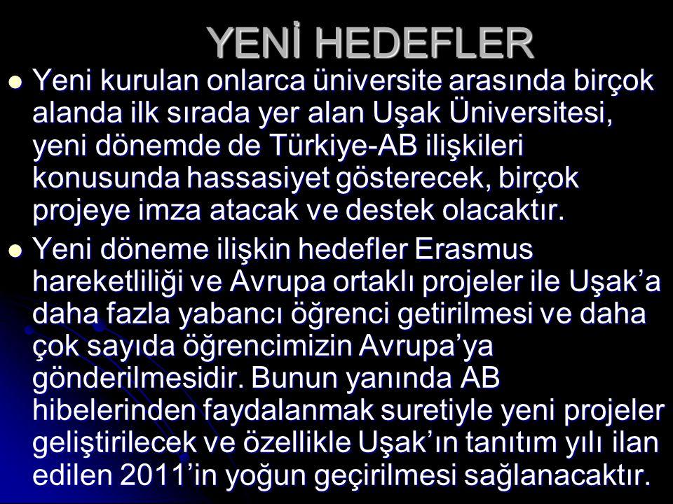 YENİ HEDEFLER