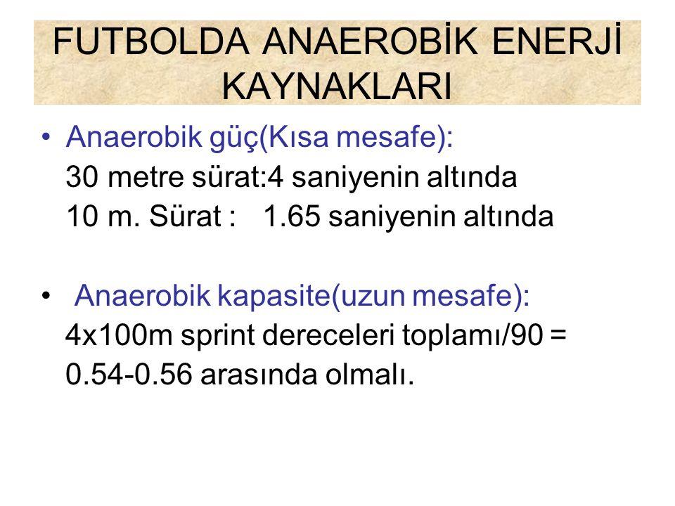 FUTBOLDA ANAEROBİK ENERJİ KAYNAKLARI