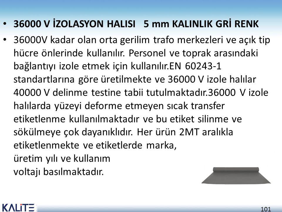36000 V İZOLASYON HALISI 5 mm KALINLIK GRİ RENK