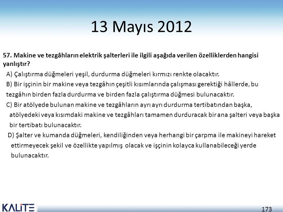 13 Mayıs 2012