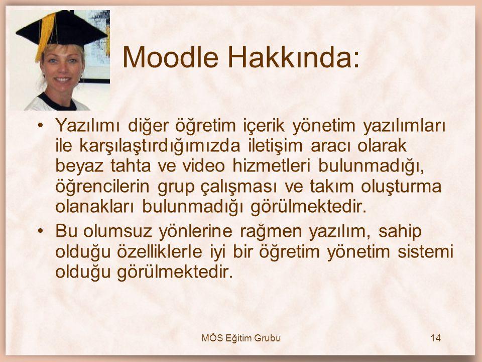 Moodle Hakkında: