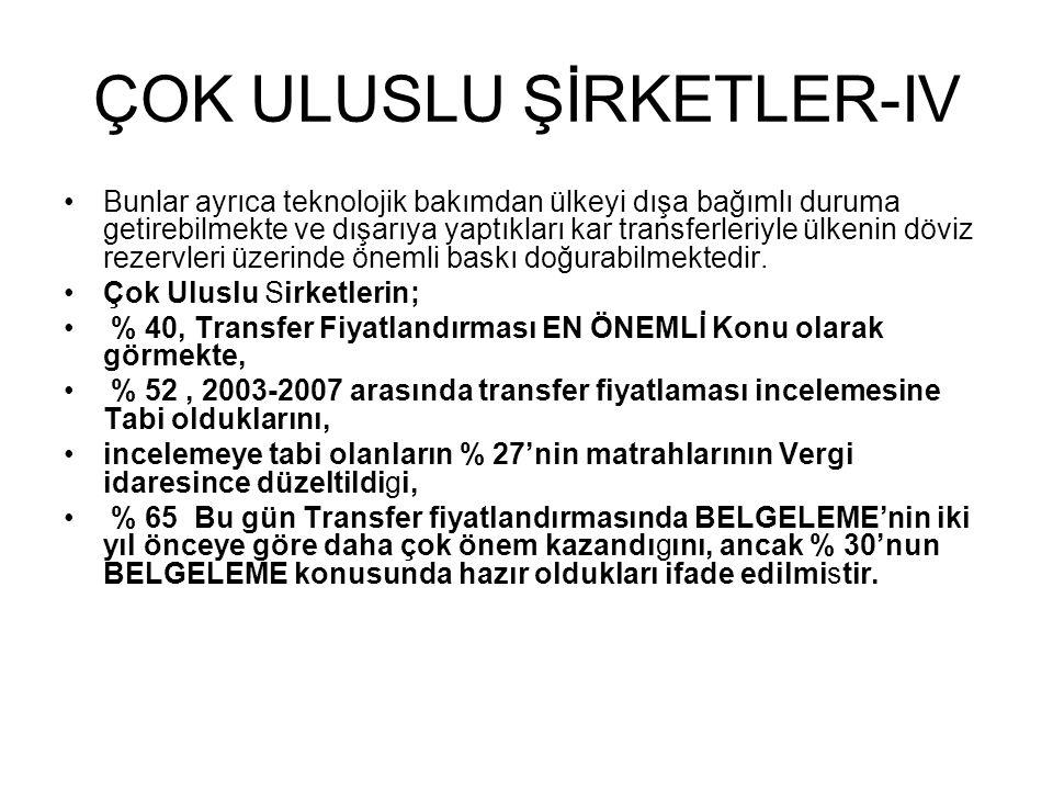ÇOK ULUSLU ŞİRKETLER-IV