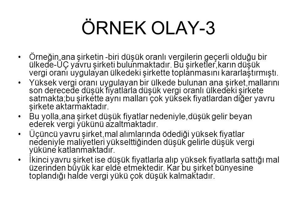 ÖRNEK OLAY-3
