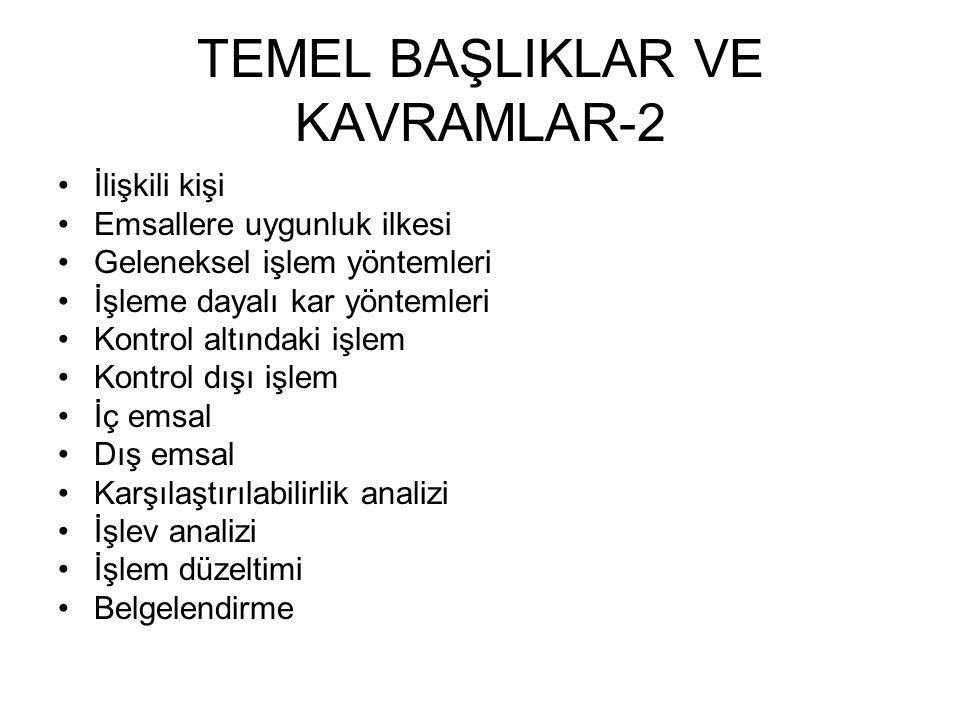 TEMEL BAŞLIKLAR VE KAVRAMLAR-2