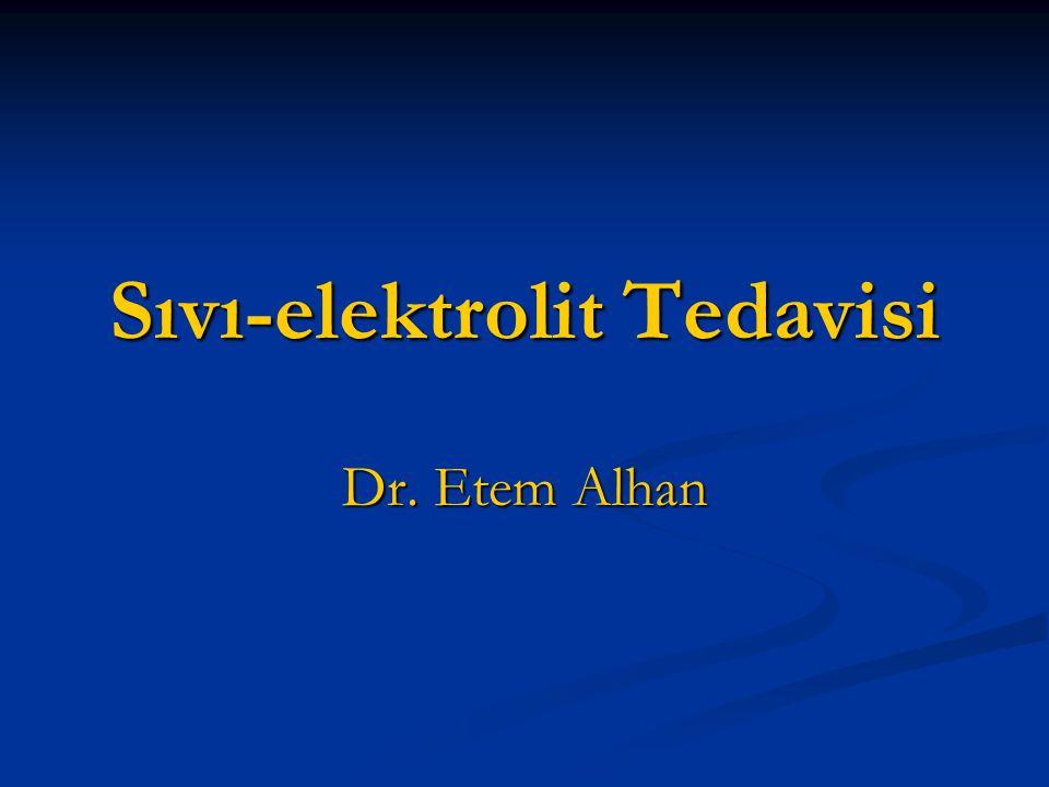 Sıvı-elektrolit Tedavisi