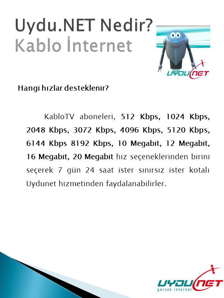 Uydu.NET Nedir Kablo İnternet