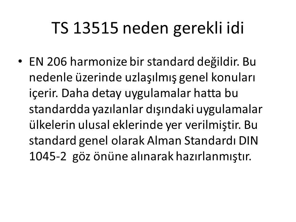 TS 13515 neden gerekli idi
