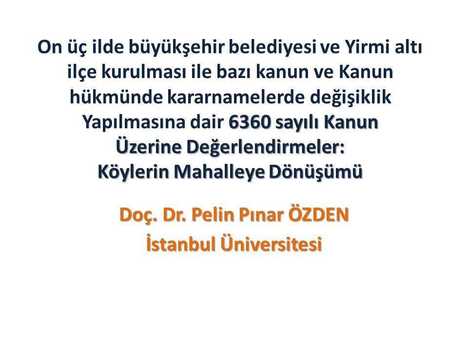Doç. Dr. Pelin Pınar ÖZDEN İstanbul Üniversitesi