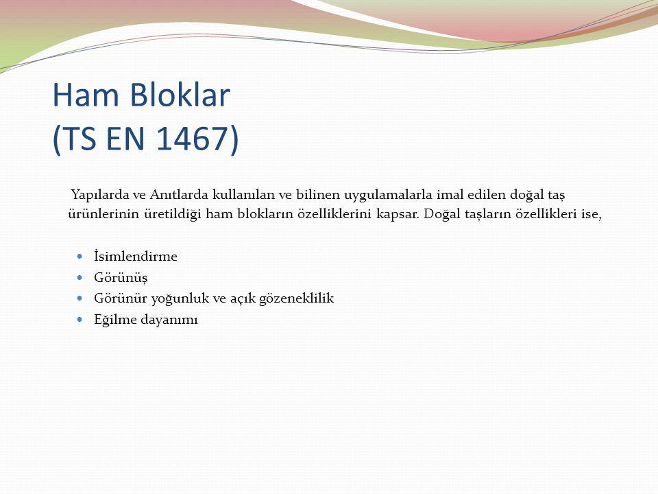 Ham Bloklar (TS EN 1467)