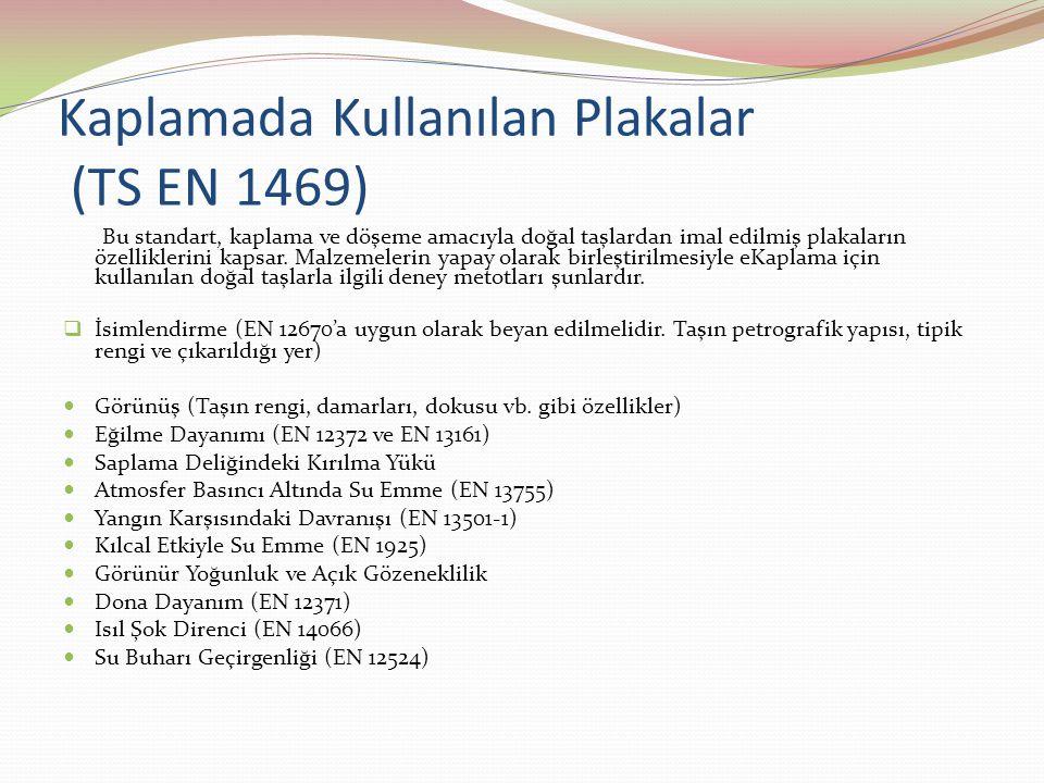 Kaplamada Kullanılan Plakalar (TS EN 1469)