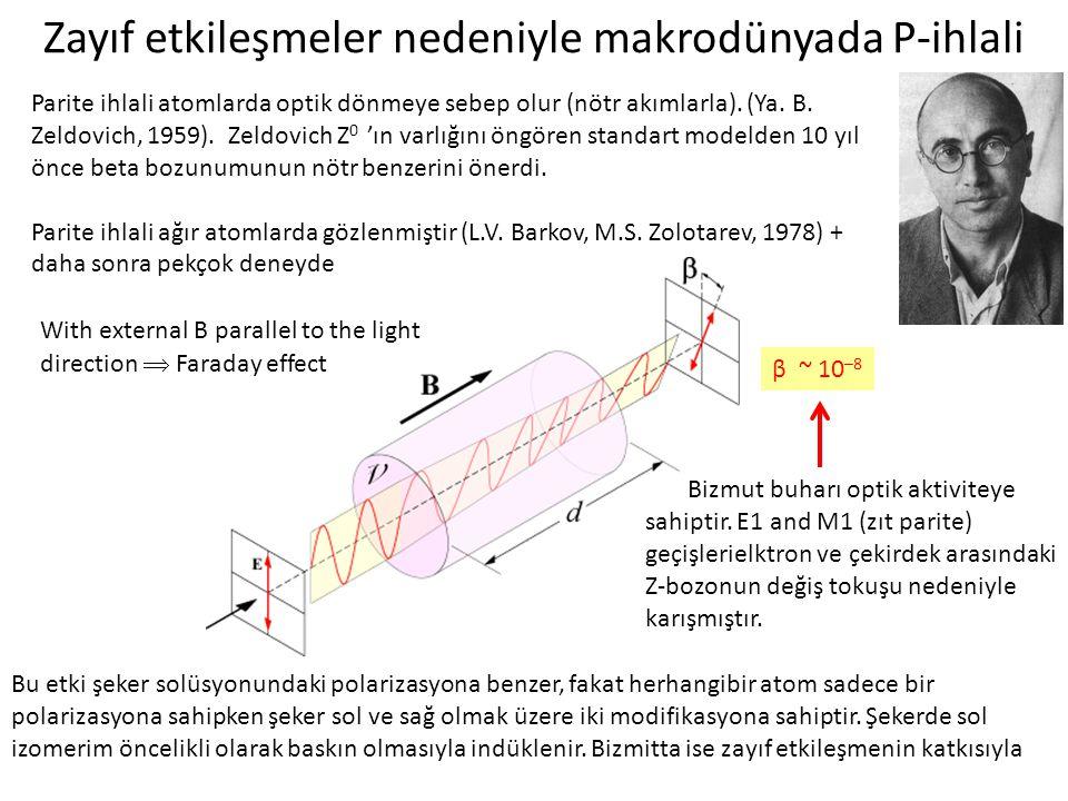Zayıf etkileşmeler nedeniyle makrodünyada P-ihlali