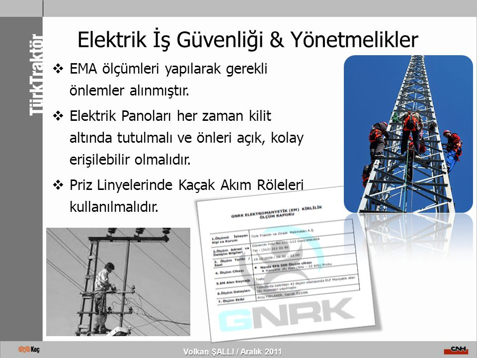 Elektrik İş Güvenliği & Yönetmelikler