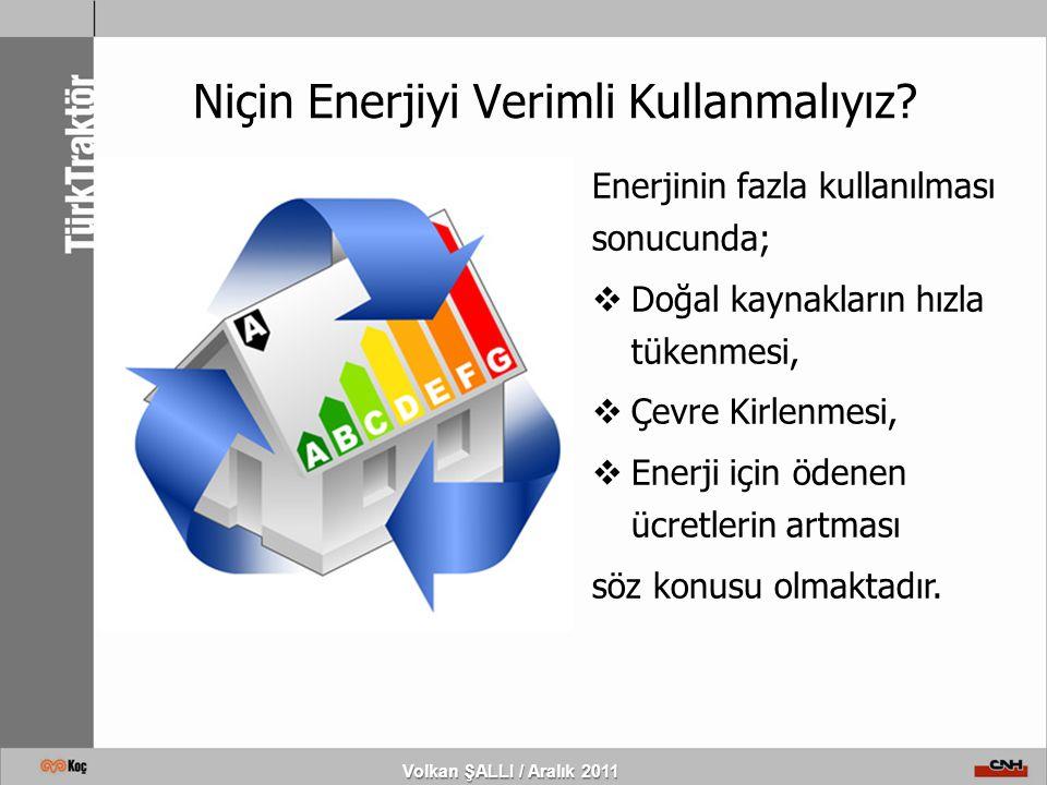 Niçin Enerjiyi Verimli Kullanmalıyız