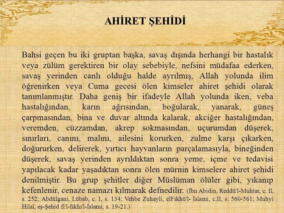 AHİRET ŞEHİDİ