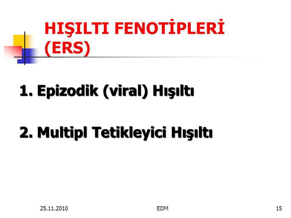 HIŞILTI FENOTİPLERİ (ERS)