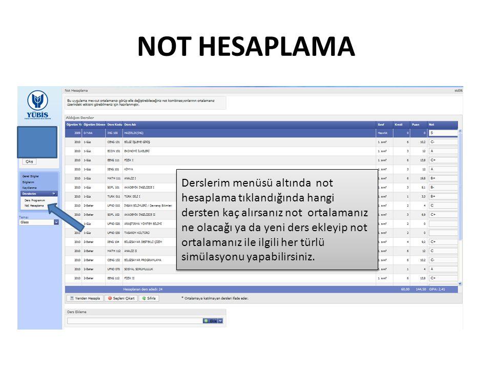 NOT HESAPLAMA